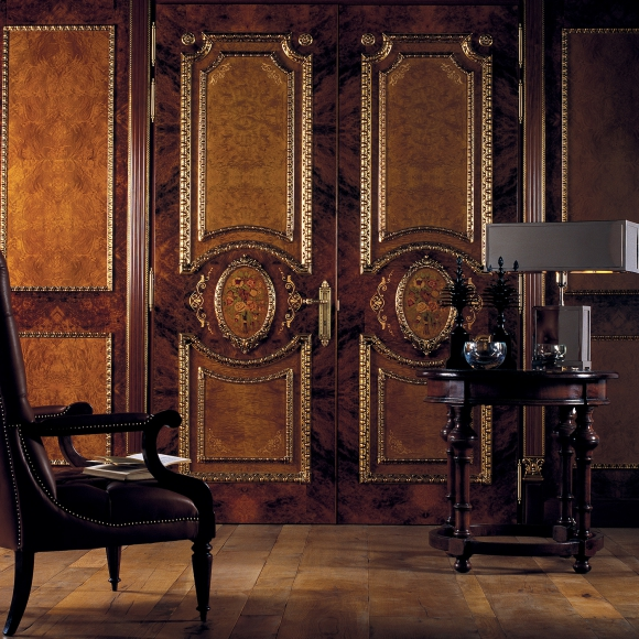 Classic style door and boiserie